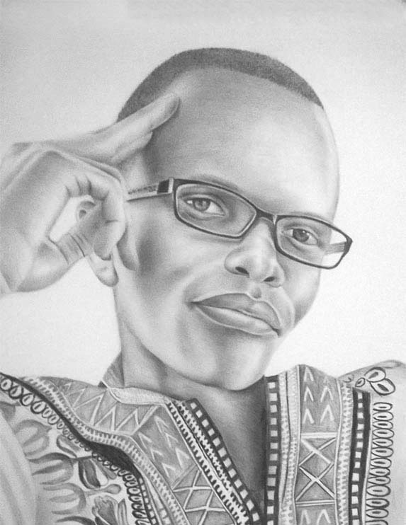 Ted Chege Pic Drawing-
